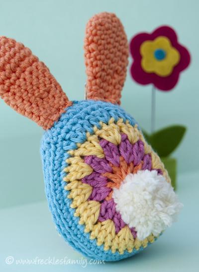 Crochet Bunny rear blog
