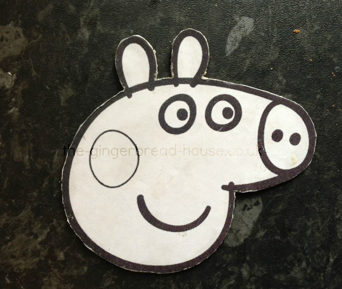 Peppa pig biscuits pinaddicts challenge for Peppa pig cake template free