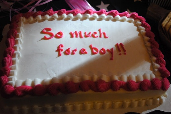 So much for a boy cake