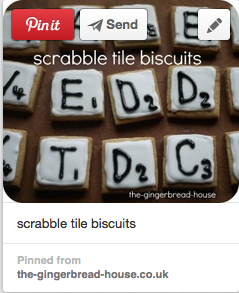 scrabble tile biscuits