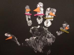 finger print snowmen