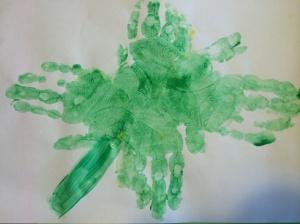 handprint shamrock